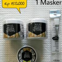 Mabello Paket 2 Lulur dan 1 Masker beras hitam