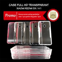 Case Xiaomi Redmi 5x A1 Full Hd Transparan Acrylic Casing Hp Bening