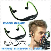 Headset Bluetooth 4.1 Sport For All Type HP support Android Dan Ios