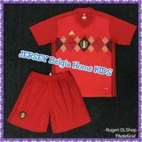 JERSEY BELGIA HOME KIDS WORLD CUP 2018 GRADE ORIGINAL