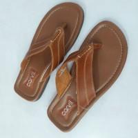 Sandal kulit pria carvil Morata-01 Tan