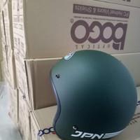 Helm Bogo Retro Jpn Arc Hijau Army Doff