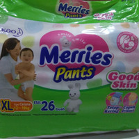 Merries pants Good Skin size XL isi 26pcs ( via Gojek / Grab)