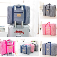 Korean Travel Bag Motif SALUR (Tas travel ukuran besar, super praktis)