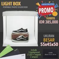 Jual LIGHT BOX PORTABLE MINI PHOTO STUDIO MAGIC BOX UKURAN BESAR 55X45X50cm Murah