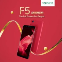 HP OPPO F5 MERAH PASSION RED GARANSI RESMI ORIGINAL