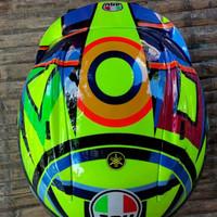 helm Rossi vr46 kyt rc7 airbrush flat visor