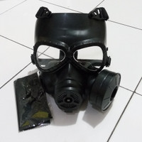 tactical gas mask M04 topeng masker airsoft paintball cosplay dll