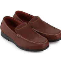 Sepatu Watchout Moccasins Slipon Loafer Brown Men