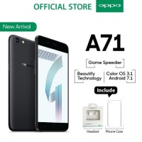 HP Handphone OPPO A71 BLACK / HITAM 2/16GB Garansi Resmi 1 Tahun