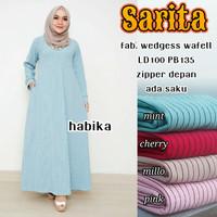 baju perempuan dress gamis jumbo kain katun maxi dress