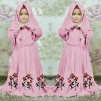 H [Syari Anak Marsha D Pink SW] baju muslim anak perempuan jersey dpin