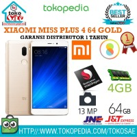 HP XIAOMI MI5S PLUS 4 64 GOLD GARANSI DISTRIBUTOR 1 TAHUN ANDROID XIO