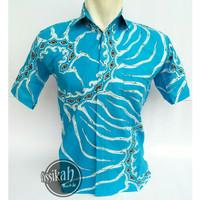 Jual Baju Muslim Batik Seragam Modern Motif Wayang (Kemeja Batik Kantor) Murah