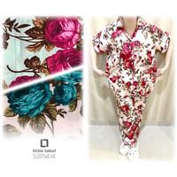 JUMBO CP FLOWER piama baju tidur katun jepang wanita ukuran besar xxxl