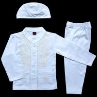 Jual Baju Muslim Koko (6-12 Bulan) Anak Bayi Laki-Laki Setelan Set Peci LY8 Murah