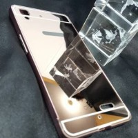 Case Casing HP OPPO R7 R7 Lite Bumper Metal Mirror Sliding Backcase C
