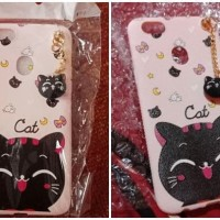 Case Casing HP OPPO F5 F5 YOUTH CUTE NEKO CAT HEAD TASSEL SOFT CASE C