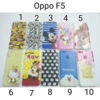 Case Casing HP OPPO Case Softcase Karakter F5 Softcase F5 New