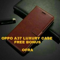 Case Casing HP OPPO A37 LUXURY WALLET CASE BACA DESKRIPSI STOK WARNA