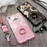 Case Casing HP OPPO F1plus F1 Plus F1S F1 S Wedding Lace Softcase Sof