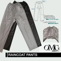 CELANA  Jas Hujan Karet OMG WaterProof Raincoat Pants Anti Air PVC