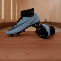 Sepatu Bola Nike Mercurial X CR7 Superfly Kids / Anak-anak Grey