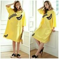 Harga gl big size banana yellow pakaian dress | Pembandingharga.com