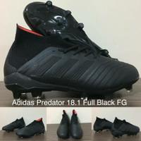 Sepatu Bola Adidas Predator 18.1 Full Black FG