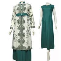 Model Baju Gamis Batik Kombinasi Terbaru - Busana Muslim SA-317