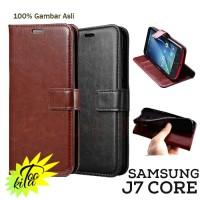 Retro Leather Case Samsung J7 Core 2017 Casing Luxury Wallet Flipcase
