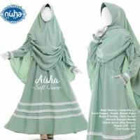 Cadar tali set gamis syari polos bahan wolfis baju muslim syari hijab