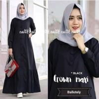 TERLARIS Baju Kekinian muslim wanita dress Crown Maxi new grosir mera