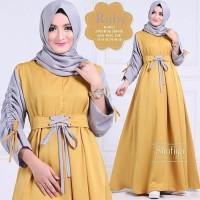 Harga model baru baju kekinian muslim dress wanita ruby pakaian muslim   Pembandingharga.com