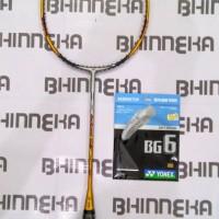 Harga raket badminton yonex arcsaber gamma free senar yonex bg 6 | Pembandingharga.com