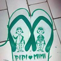 Sandal Jepit Motif Ukir Handmade