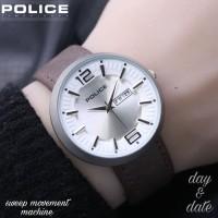 JAM TANGAN POLICE SILVER KULIT 6188