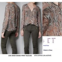 SNAKE PRINT BLOUSE. Made in China - FACTORY OUTLET BRANDED