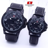 Jam Tangan Couple Swiss Army Tanggal Hari ( Expedition Jeep Seiko Ac )