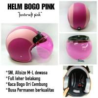 Helm Bogo Setengah Pink Fanta, Helm Bogo Original Import Pink