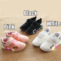 Sepatu Olahraga / Sneakers / Kets Anak TK Lampu / LED Mesh Sport