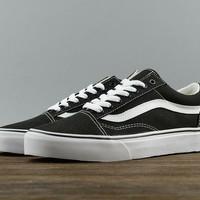 DIJAMIN ORIGINAL  Sepatu Vans Oldskool Canvas Black White 675f0bd769