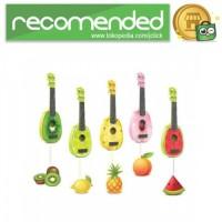 Ukulele Gitar Mainan Gambar Buah-Buahan - Multi Warna