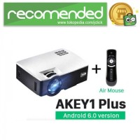 AUN AKEY1 Plus WiFi Proyektor 1080P 1800 Lumen Android with Air Mouse