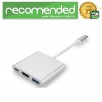 USB Type C 3.1 to USB 3.0 HDMI USB Type C - Silver