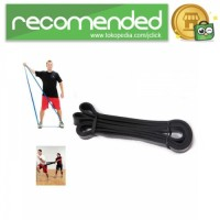 Latex Pull Up Resistance Band Fitness - Hitam - Size M