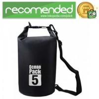 Outdoor Waterproof Bucket Dry Bag - Hitam - 5 Liter