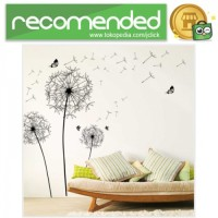 Sticker Wallpaper Dinding Black Dandelion - Hitam