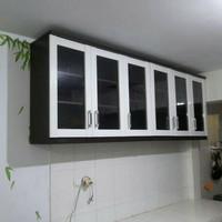 Lemari sayur 6 pintu kaca / rak penyimpanan serbaguna