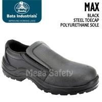 Termurah Bata Max Black Hitam Classic Slip On Sepatu Safety Shoes Ter